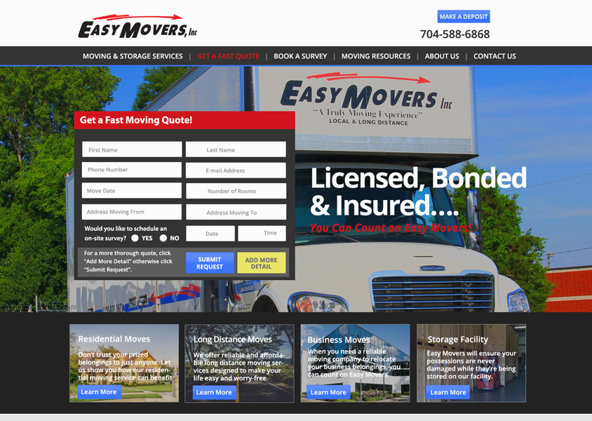 Easy Movers Website