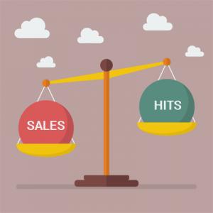 Website Hits vs. Sales