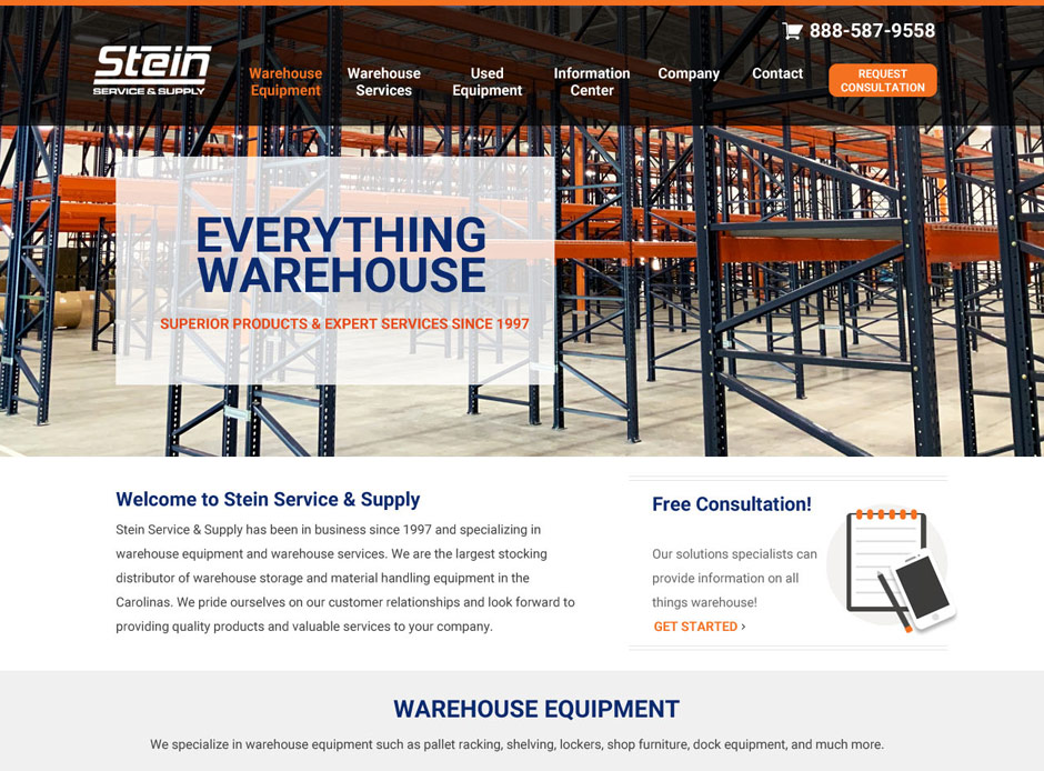 Stein Service & Supply Web Design